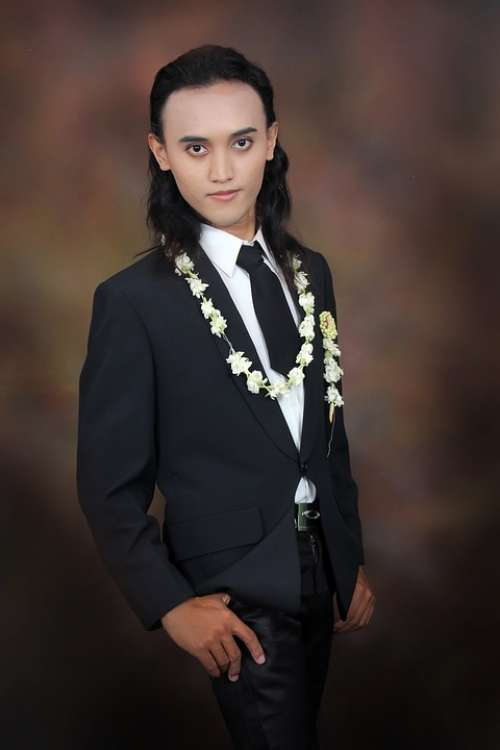 Man Groom Indonesian Java Party Wedding Male