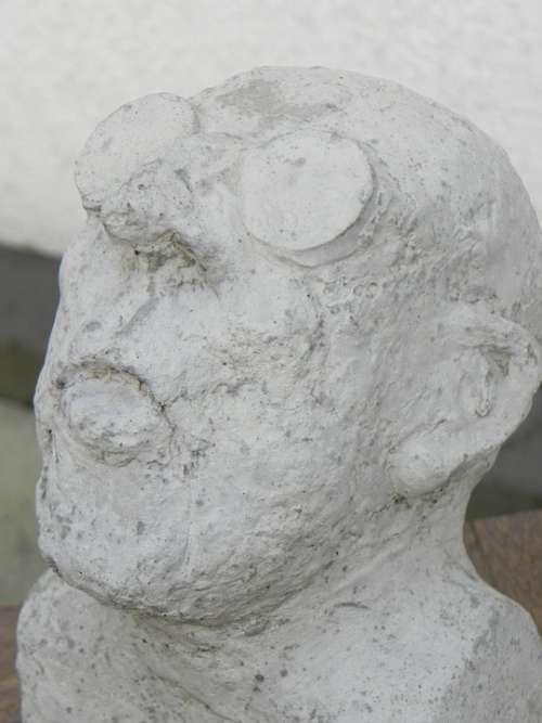 Man Glasses Head Art Sculpture
