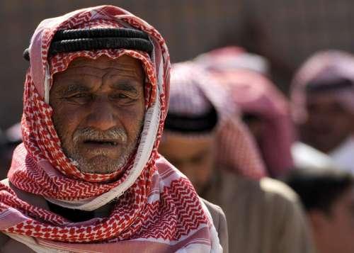 Man Iraq Men Portrait Weathered Older Weary