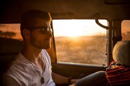 Man Car Passenger Male Vehicle Automobile