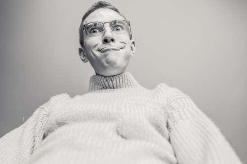 Man Silly Funny Crazy Weird Odd Peculiar Person