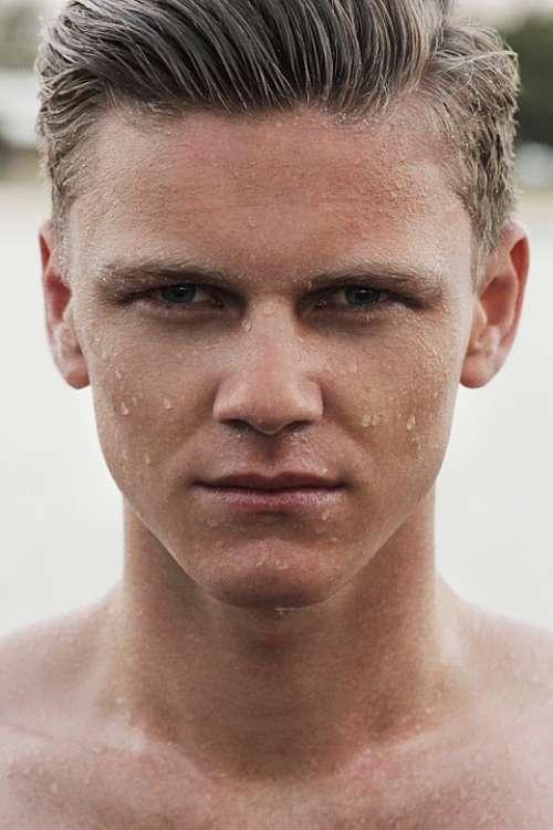 Man Face Wet Male Head Person Caucasian