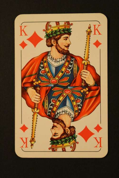 Map Card Game Playing Cards Diamonds Skat King