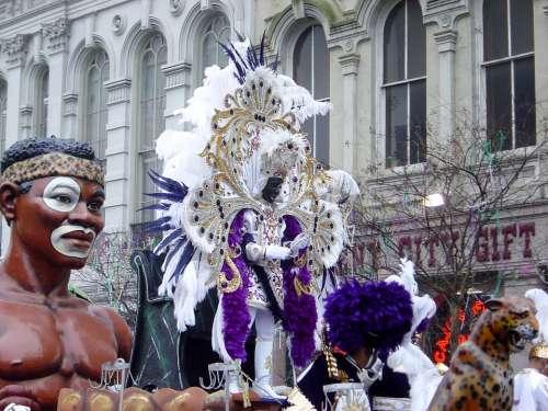 Mardi Gras Zulu King New Orleans Carnival Festive