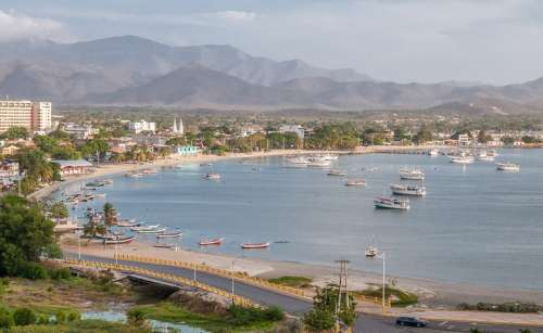 Margarita Island Scenic View Harbor Panoramic