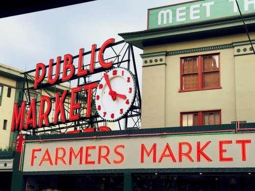 Market Seattle Washington Pike Place Public Market