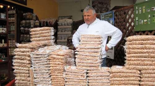 Market Santorini Pistachio Nuts Shop Greece Sale
