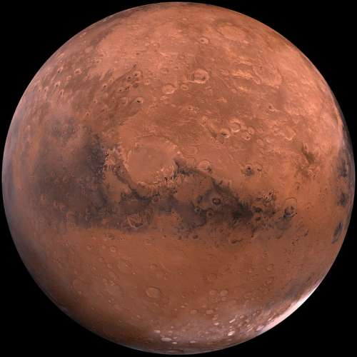 Mars Red Planet Planet Starry Sky Space Universe