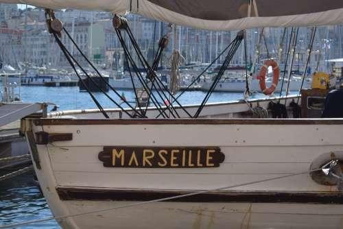 Marseille Port Boat Mediterranean France Sea