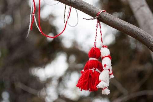 Martenitsa Tradition Symbol Custom Mar Red