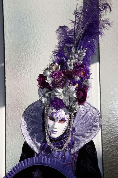 Masks Venice Carnival Panel Romance