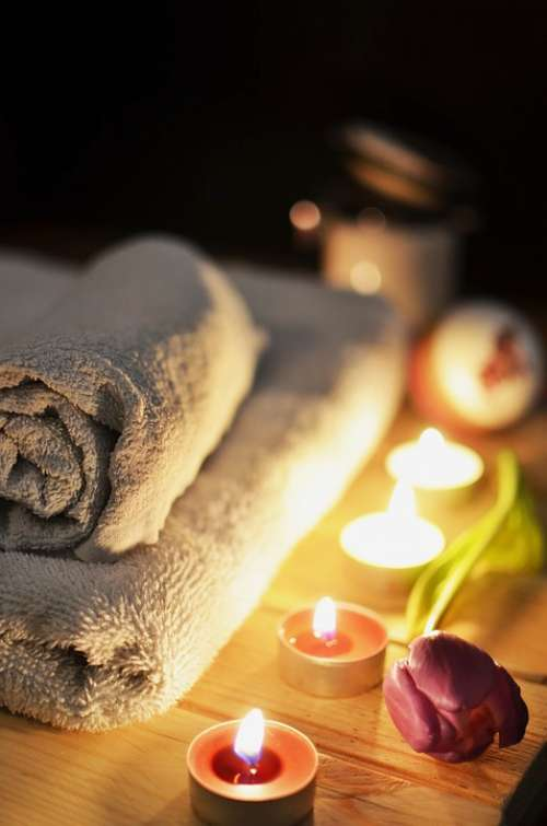 Massage Therapy Candles Relaxation Treatment Luxury