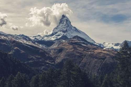 Matterhorn Mountain Alps Switzerland High Peak