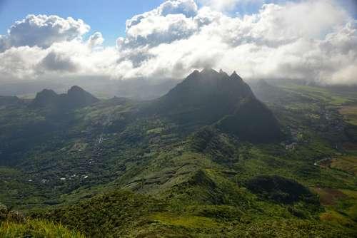 Mauritius Nature Hill Mountains Summer