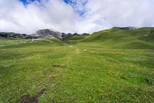 Meadow Hills Highlands Landscape Nature Green