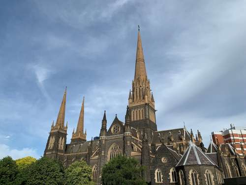 Melbourne Church Cathedral Christianity Australia