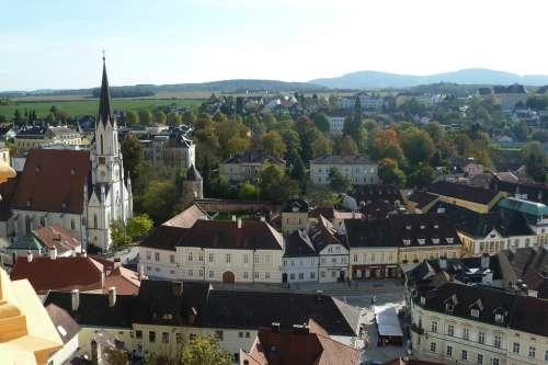 Melk City Center Outlook Stadtmitte Church Wachau