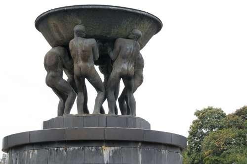 Men Monument Male Personal Shell Sculpture Art