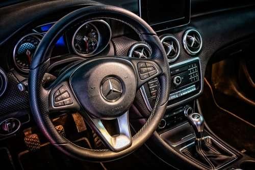 Mercedes Cockpit Interior Dashboard Steering Wheel