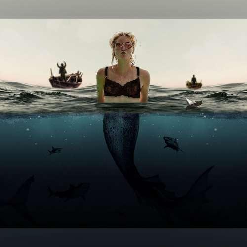 Mermaid Sea Water Fantasy Woman Underwater Ocean