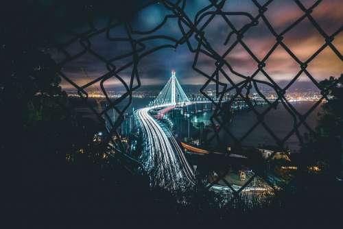 Mesh Night Fence Hole Breakout Light Bridge