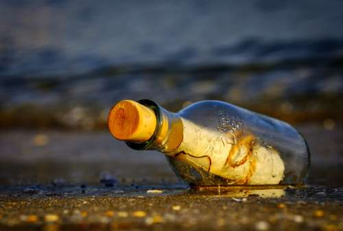 Message In A Bottle Bottle Sea Message Wreck