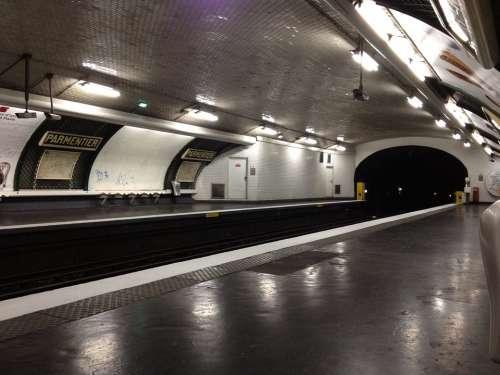 Metro Paris Station Wharf Parmentier