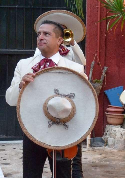 Mexico Mariachis Musicians Hats Sombrero