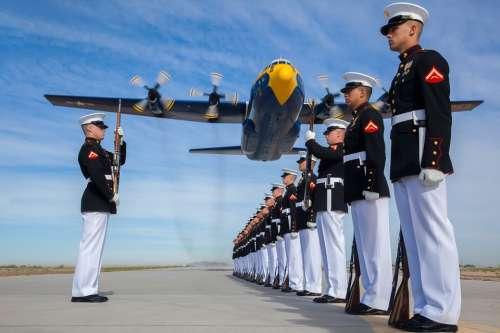 Military Usa Marines Drill Silent Platoon