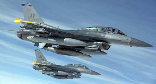 Military Jets Airplanes Flying Aviation F16