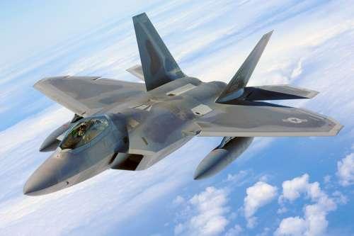 Military Raptor Jet F-22 Airplane Plane Fighter