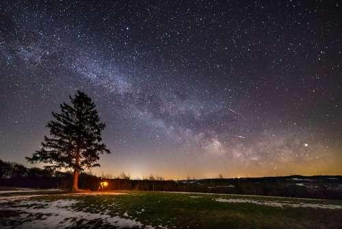 Milky Way Night Alone Fear Dark Star Starry Sky