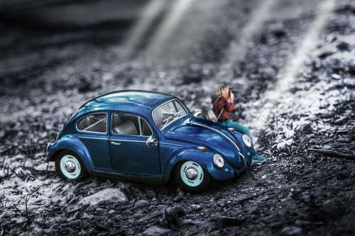 Miniature Car Toy Vehicle Photography Remix