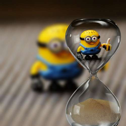 Minion Funny Toys Children Hourglass Cute Yellow