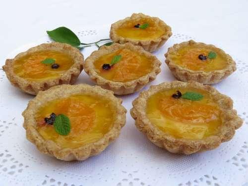 Minitartas Custard Tangerine Pastry Sweetened Dough