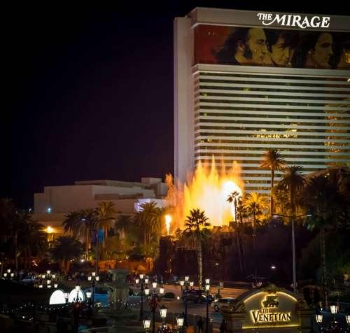 Mirage Las Vegas Fire Enhibit Landscape View