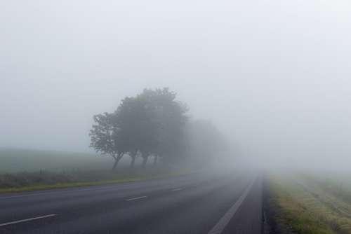 Misty Road Fog Foggy Mystery