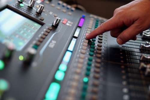 Mixer Mix Fader Console Sound Digital