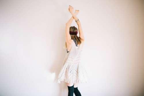 Model Arms Raised Female Girl Model Woman