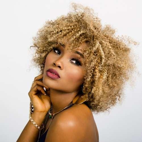 Woman Face Curly Hair Fashion Girl Model