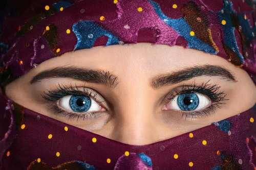 Model Beauty Woman Headscarf Exotic Beautiful