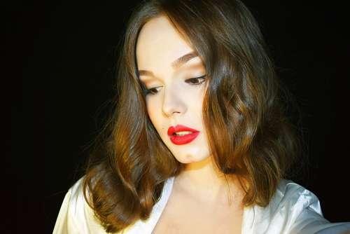 Model Makeup Girl Woman Fashion Portrait Beauty