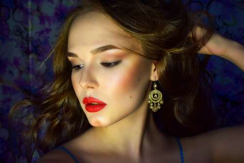 Model Girl India Beauty Makeup Woman Portrait