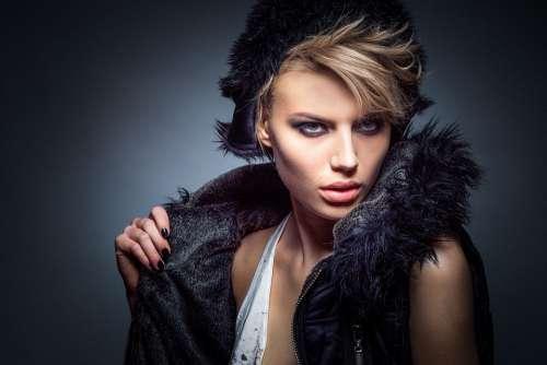 Model Fashion Glamour Girl Female Portrait Studio