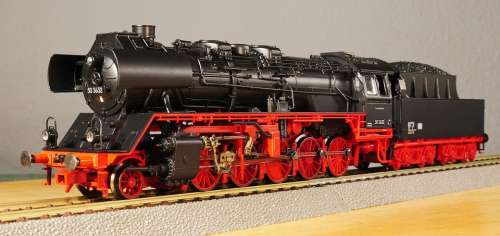 Model Railway Scale H0 Steam Locomotive Einheitslok