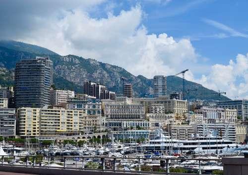Monaco Marina Boats Port Harbor Yacht Monte Carlo