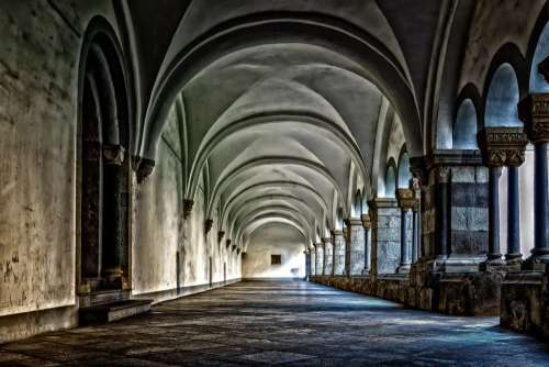 Monastery Cloister Abbey Gang Architecture Vault