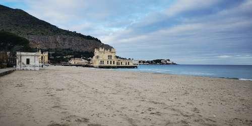 Mondello Beach Palermo Sicily Sea