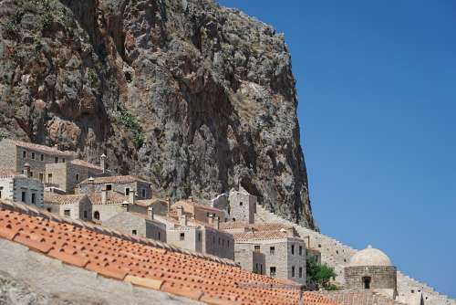 Monemvasia The Old Town Mountain Monument History