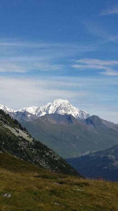 Mont Blanc Alps Mountain France